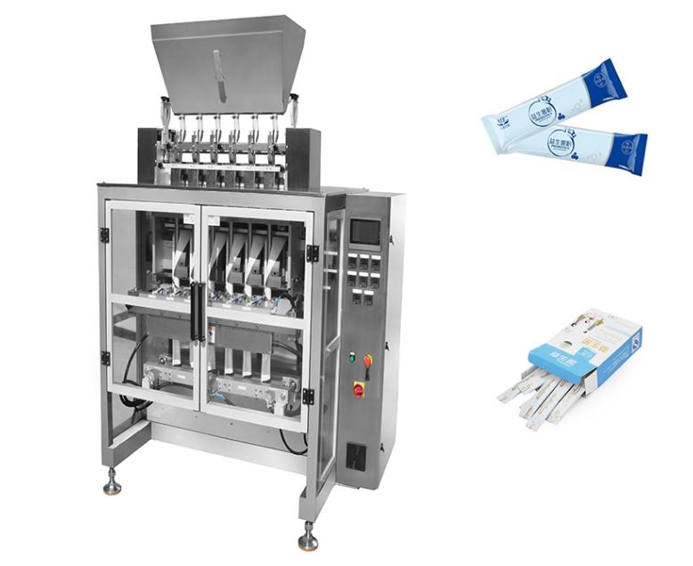 multi lane Probiotics powder sachet packing machine